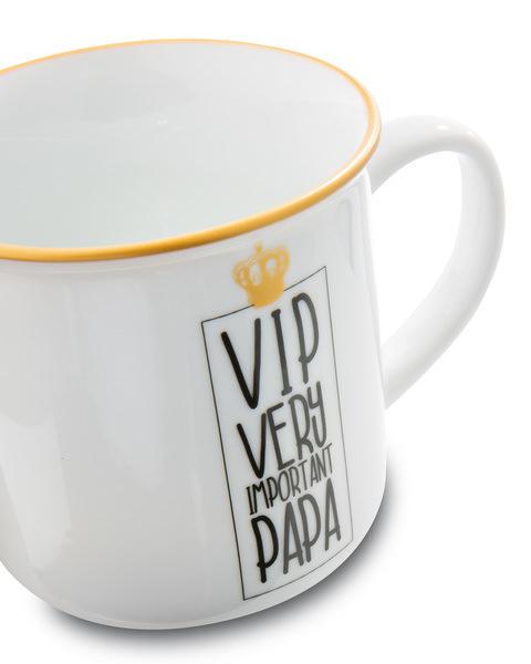 Porcelain mug metallic 'VIP Very important Papa'