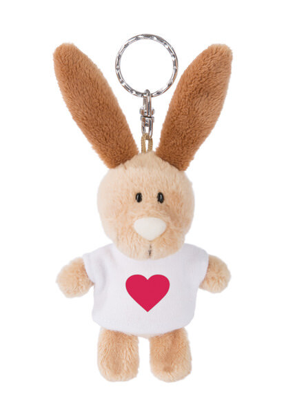Keyring rabbit with heart