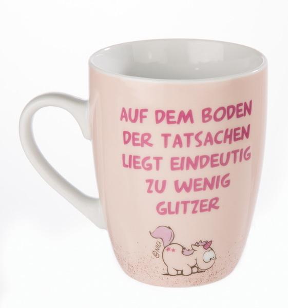 """Porcelain mug """"Auf dem Boden der Tatsachen"""""""