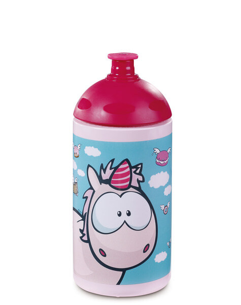 Sports bottle unicorn Theodor and his friends