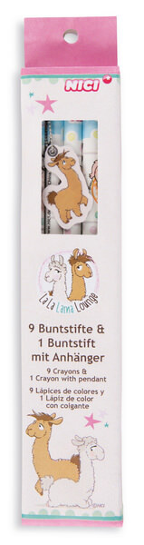 Buntstifte-Set Lamas mit 10 Farben
