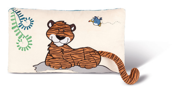 Rechteckiges Kissen Tiger Balikou