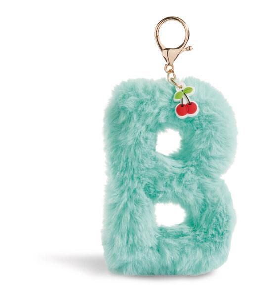 Plush bag pendant letter B with cherry