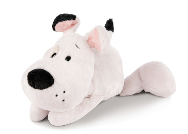 Liegendes Kuscheltier Love Hund