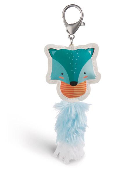 Taschenanhänger Guardian Animals Fuchs blau aus Kunstleder