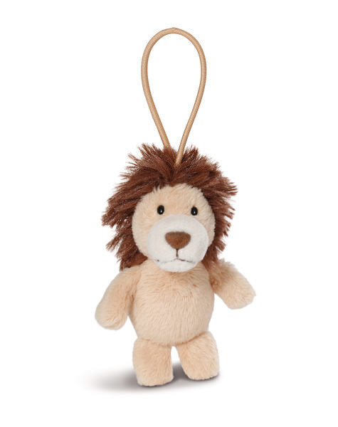 Pendant lion with elastic loop