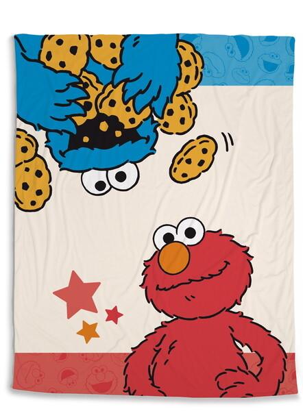 Fleece blanket Sesame Street with Cookie Monster and Elmo