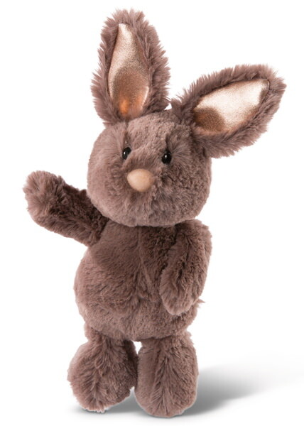 Cuddly toyBunny dark brown with glittering ears