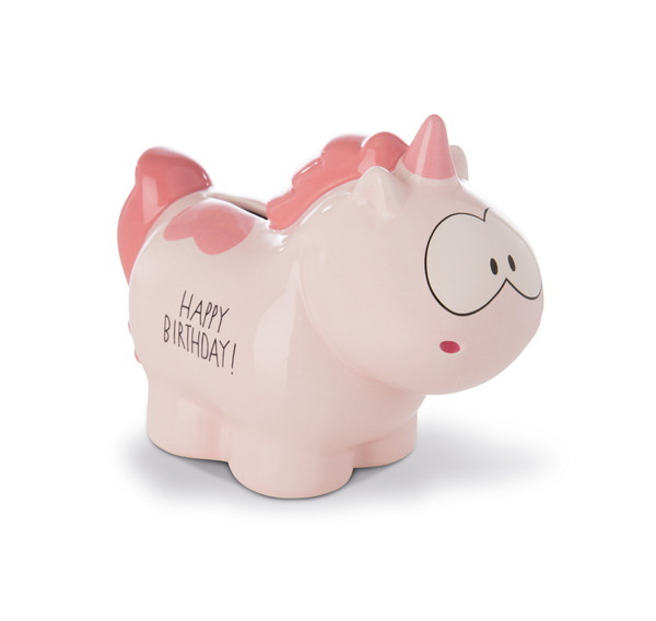 "Savings box unicorn Merry Heart ""Happy Birthday"""