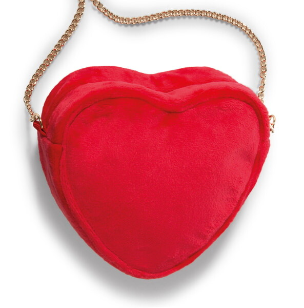 Shoulder bag Love in heart-shape with zipper