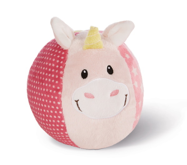 Plush ball unicorn Stupsi with bell