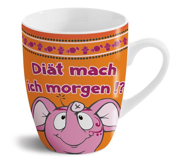 "Porcelain mug ""Diät mach ich morgen"""