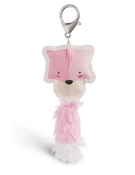 Bag pendant Guardian Animals cat light pink imitation leather