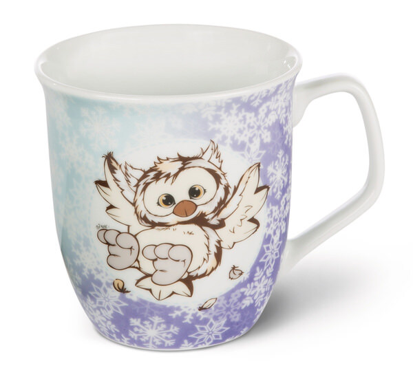Tasse Winter Pinguin Peppi und Eule Aurina