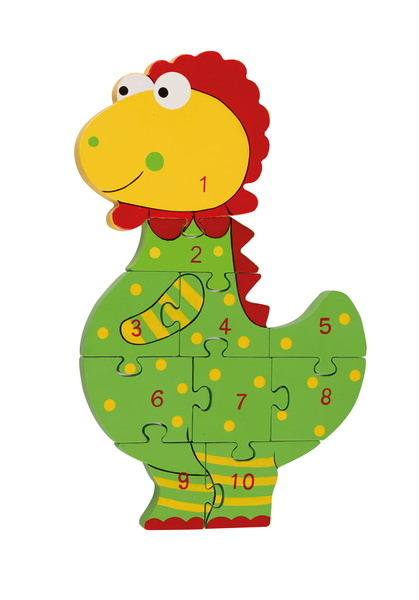 Zahlenpuzzle Dinosaurier