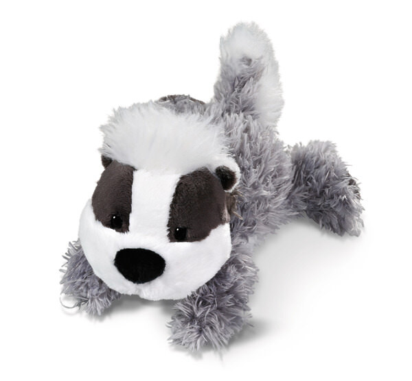 Cuddly toy lying Badger kid Barnolito