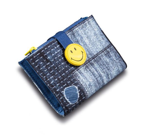 Geldbeutel Smiley im Jeans-Look