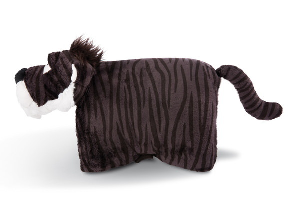 Cuddly toy cushion sabre-toothed tiger