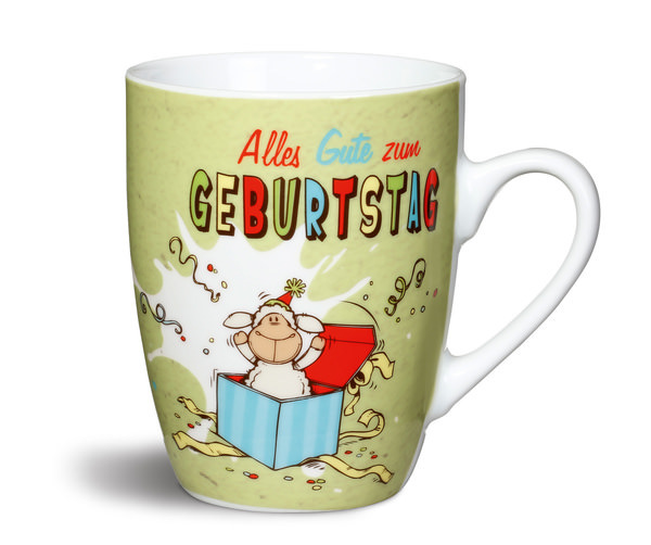 """Porzellantasse """"Alles Gute zum Geburtstag"""""""