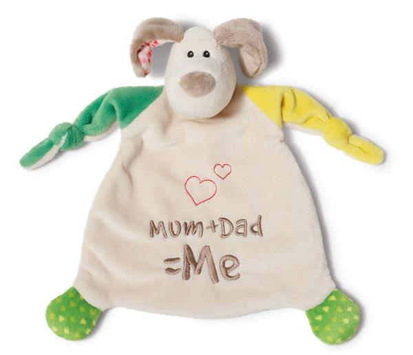 """Schmusetuch Hund """"Mum+Dad=Me"""""""