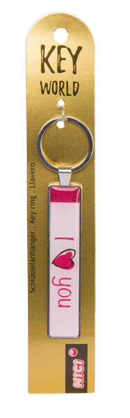 Keyring Key World 'I love You'