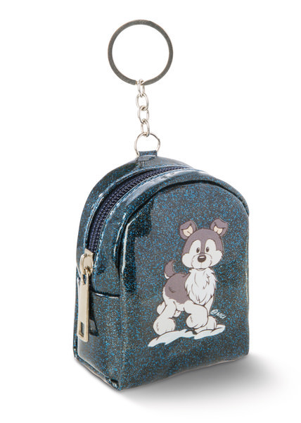 Mini-Schlüsselanhängertäschchen Husky