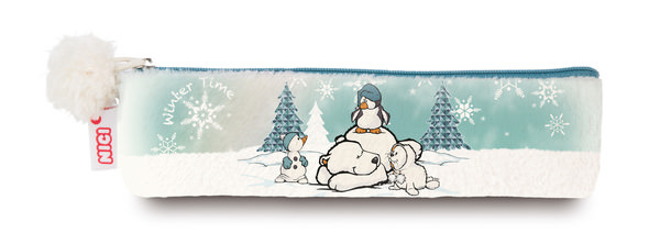 Stiftemäppchen mit Eisbär, Pinguin, Robbe und Schneemann