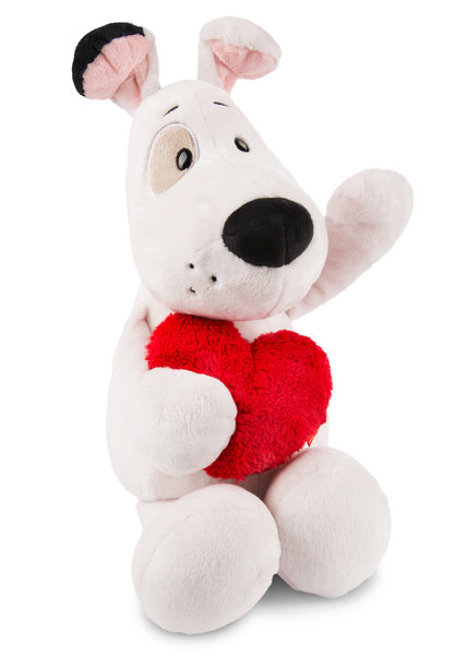 Cuddly toy Love dog with heart