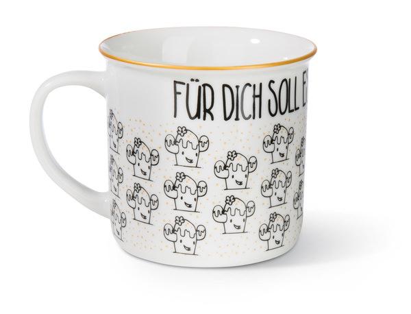 Porcelain mug metallic 'Für dich soll es Konfetti regnen'