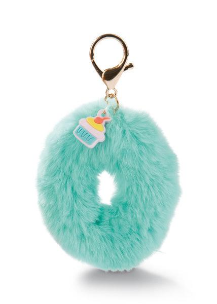 Plush bag pendant letter O with cupcake