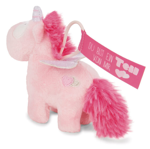 Pendant unicorn Pink Harmony with elastic loop