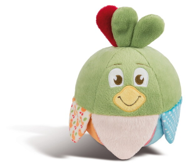 Plush ball sparrow Fritz with bell