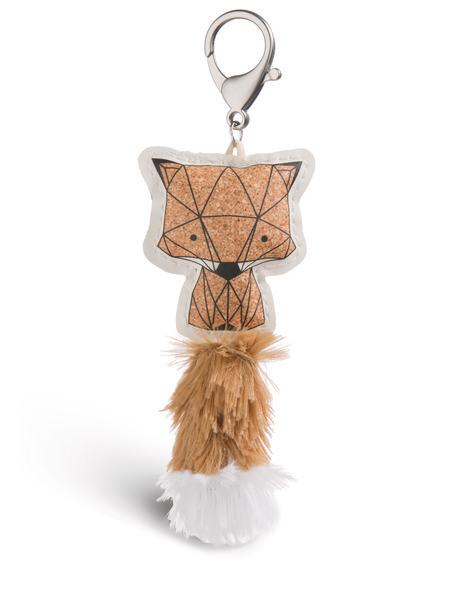 Bag pendant Guardian Animals fox cork look imitation leather