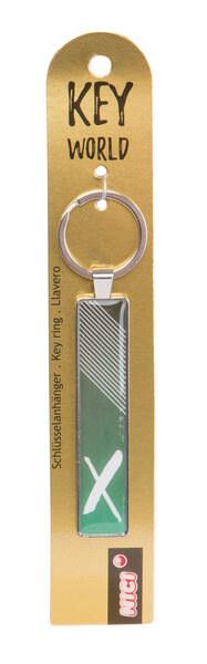 Schlüsselanhänger Key World 'X'