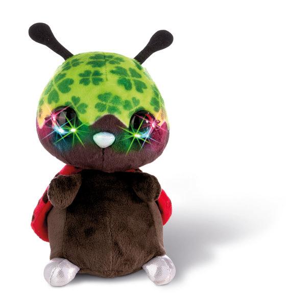 Flashies Kuscheltier Marienkäfer Luckymacky mit LED-Augen