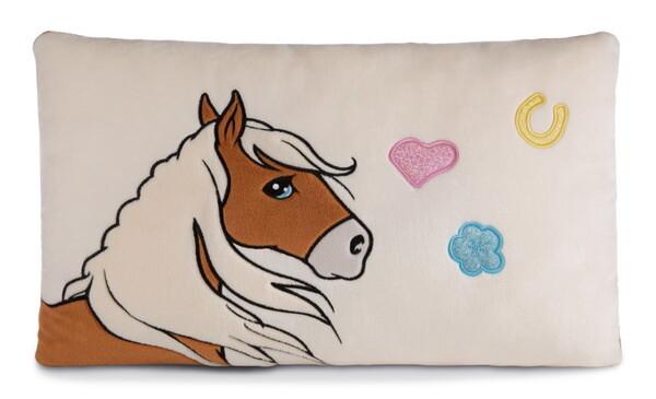 Rechteckiges Kissen Pferd Leotie