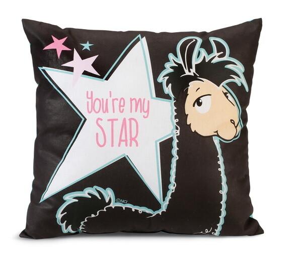 "Baumwollkissen Lama Lorenzo ""You're my star"""