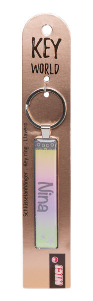 Keyring Key World 'Nina'