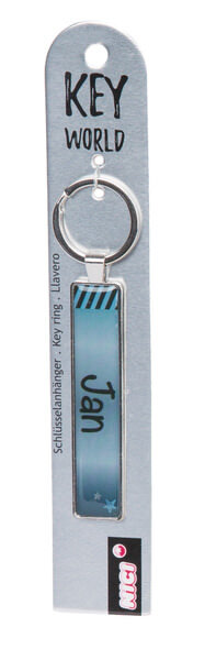 Keyring Key World 'Jan'