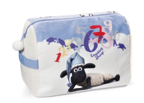Kulturtasche Shaun das Schaf mit Schlafmütze
