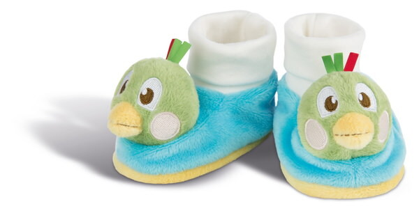 Baby booties sparrow Fritz with rattle