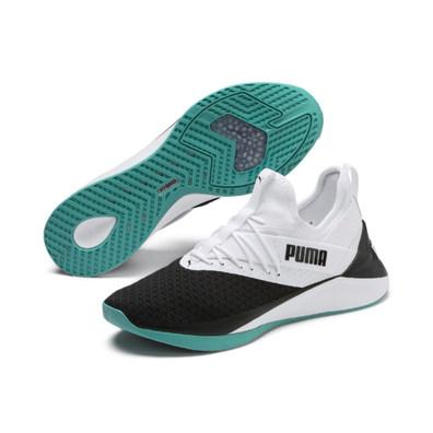 Details zu PUMA Auriz V Jr Kinder Low Boot Sneaker Hallenschuhe Weiss Grün