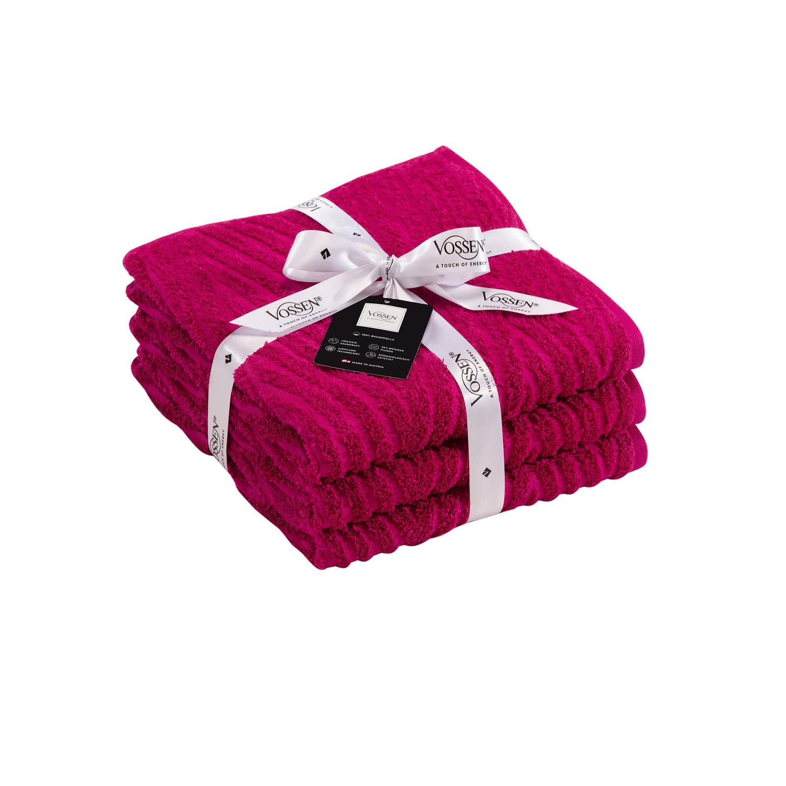 vossen handtuch set cranberry pink online entdecken. Black Bedroom Furniture Sets. Home Design Ideas