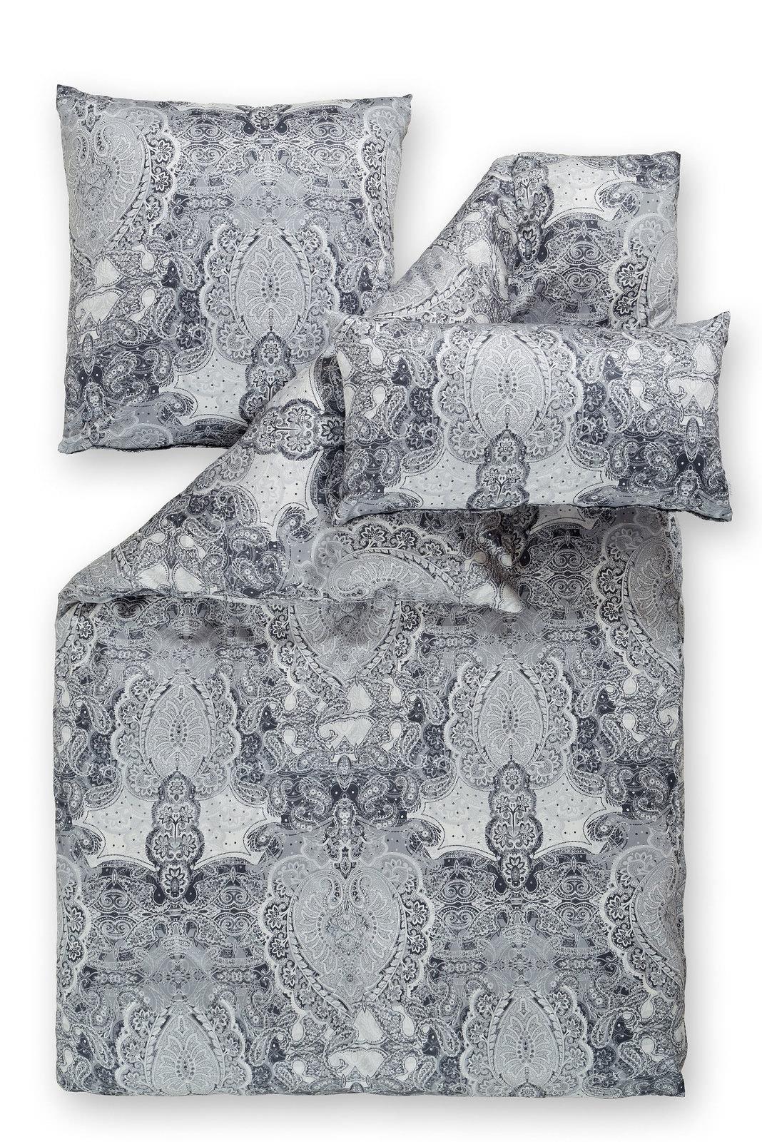 Estella Interlock Jersey Bettwäsche Grau Online Entdecken