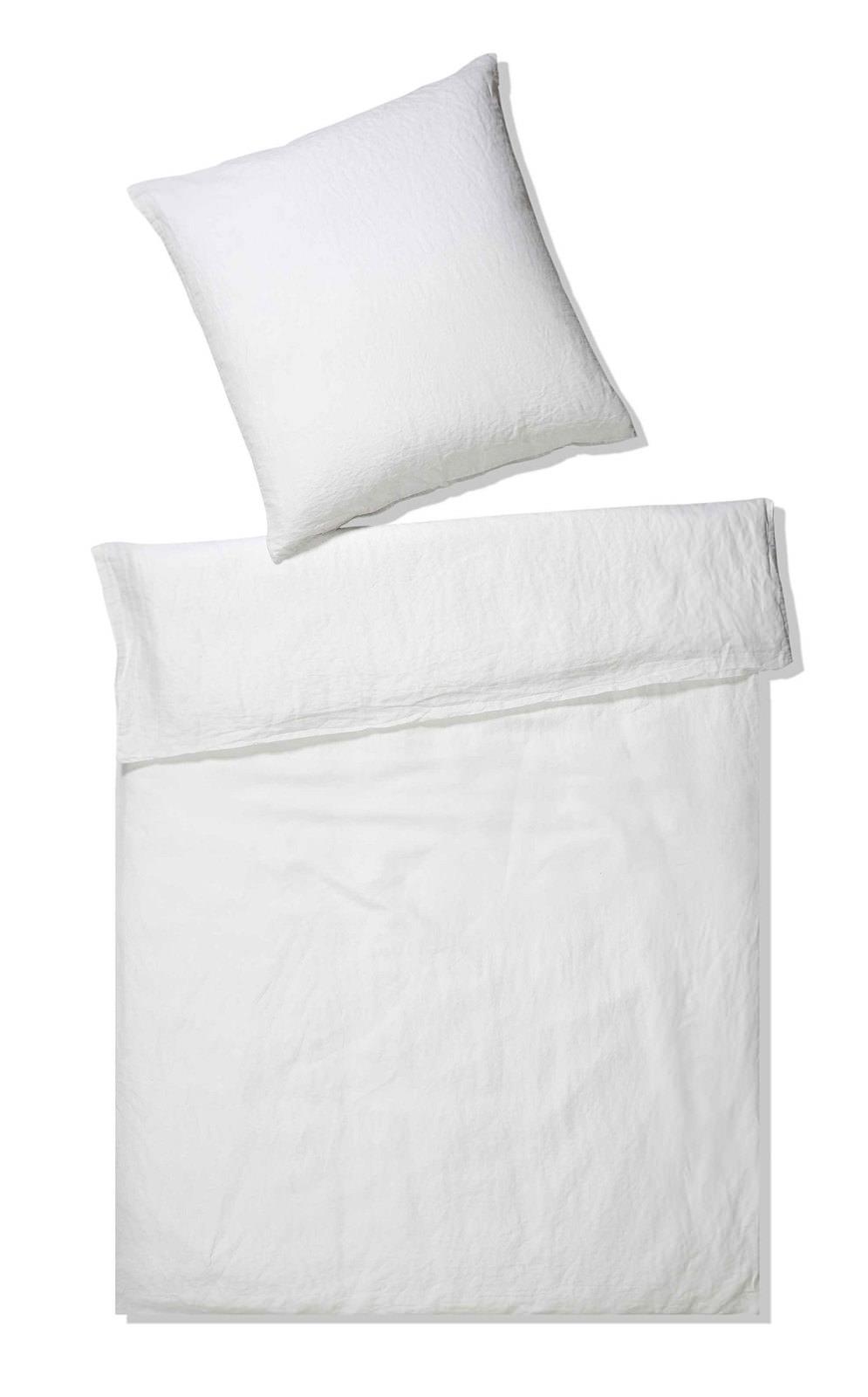 Elegante Halbleinen Bettwäsche Weiß Online Entdecken Schaffrath