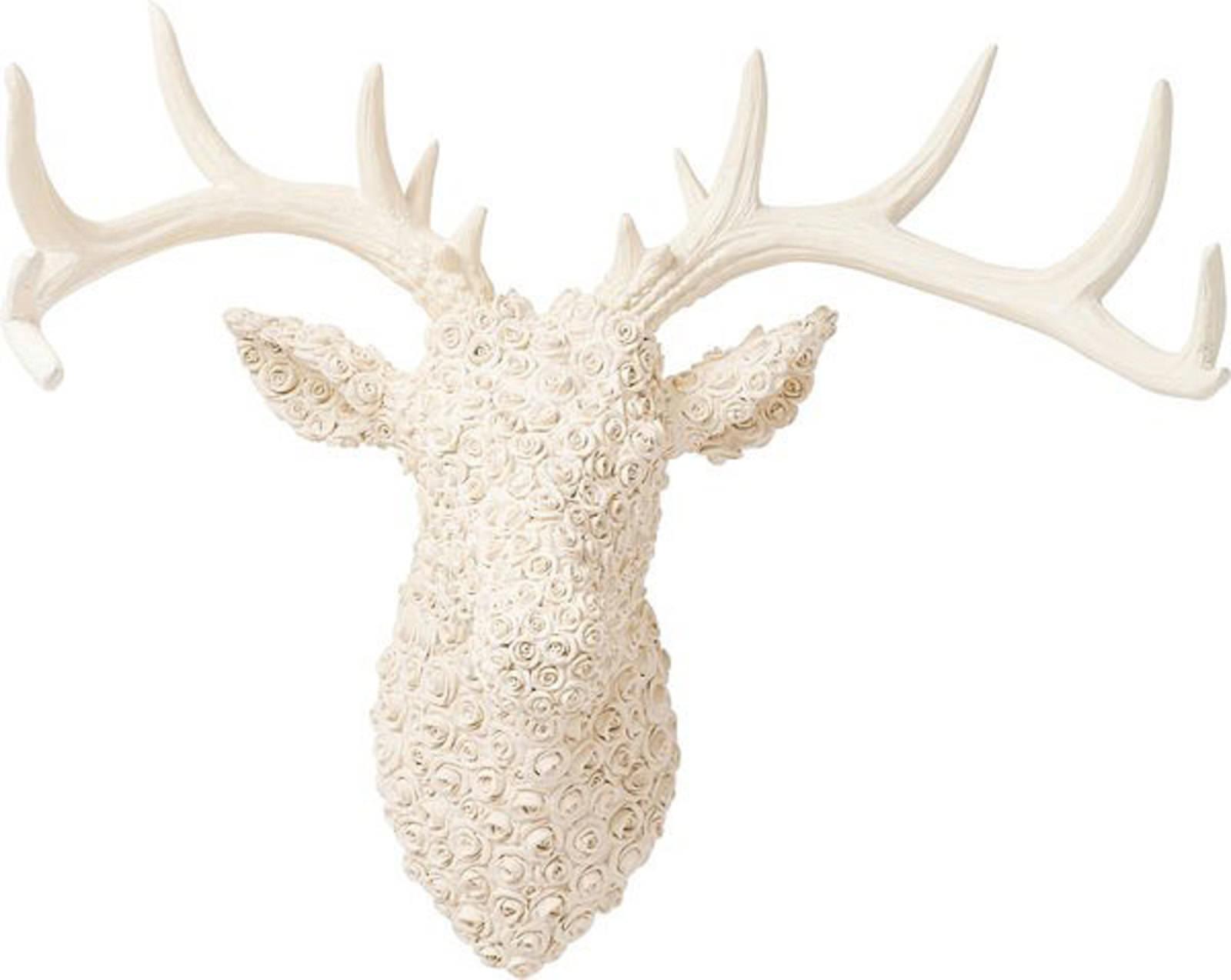 kare deko geweih deer roses white online entdecken knuffmann ihr m belhaus. Black Bedroom Furniture Sets. Home Design Ideas