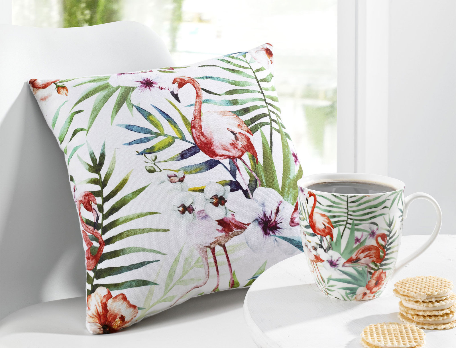 kissen flamingo bunt online entdecken schaffrath ihr m belhaus. Black Bedroom Furniture Sets. Home Design Ideas