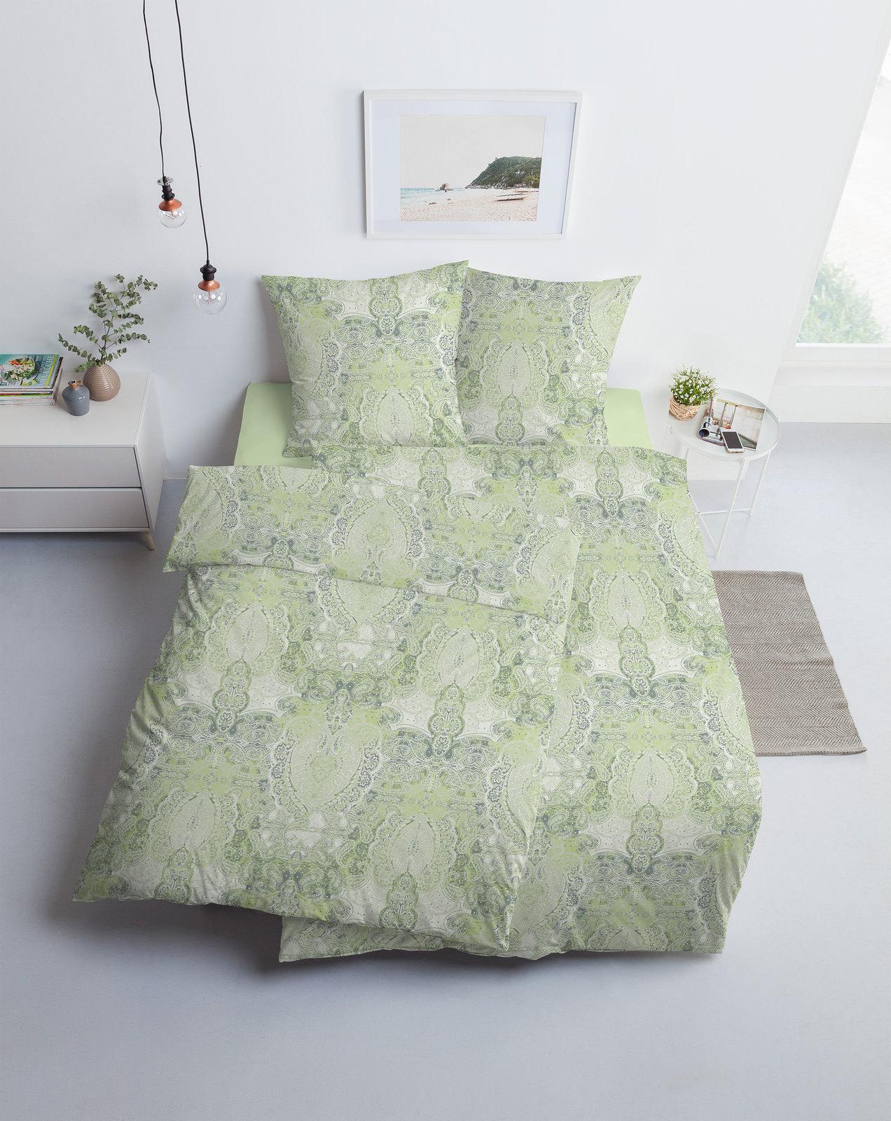 Estella Interlock Jersey Bettwäsche Grün Online Entdecken