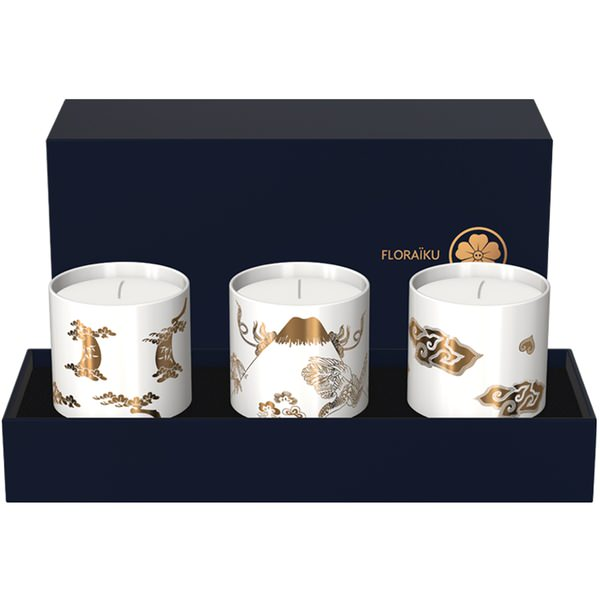Enigmatic Flowers Gift Set of Scented Candles