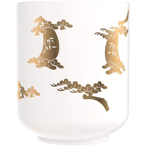 Tea Cup Smoked Wood Candle
